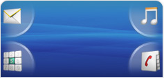 Tela padrão do Xperia X8